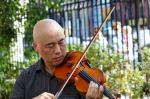 Jason Kao Hwang at First Street Green, NYC in September 2017