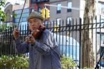 Jason Kao Hwang at First Street Green, NYC in October 2017