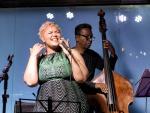 Alma Thomas and Jorge Oscar with the Thiago Trajano Quinteto at the Aqua Bossa Lounge in Rio de Janeiro, Brazil
