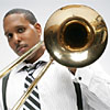 Trombonist Vincent Gardner at the Hilton Harrisburg & Towers on February 22