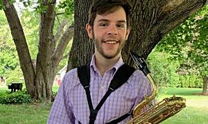 Jazz article: Baritone Saxophonist Tate Hanlon: Winner of Gerry's Jazz Challenge