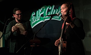 Interview with Rhiannon Giddens and Francesco Turrisi at FolkClub