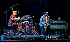 Alberto Gurrisi, Seamus Blake, Adam Nussbaum at the 2018 Torino Jazz Festival