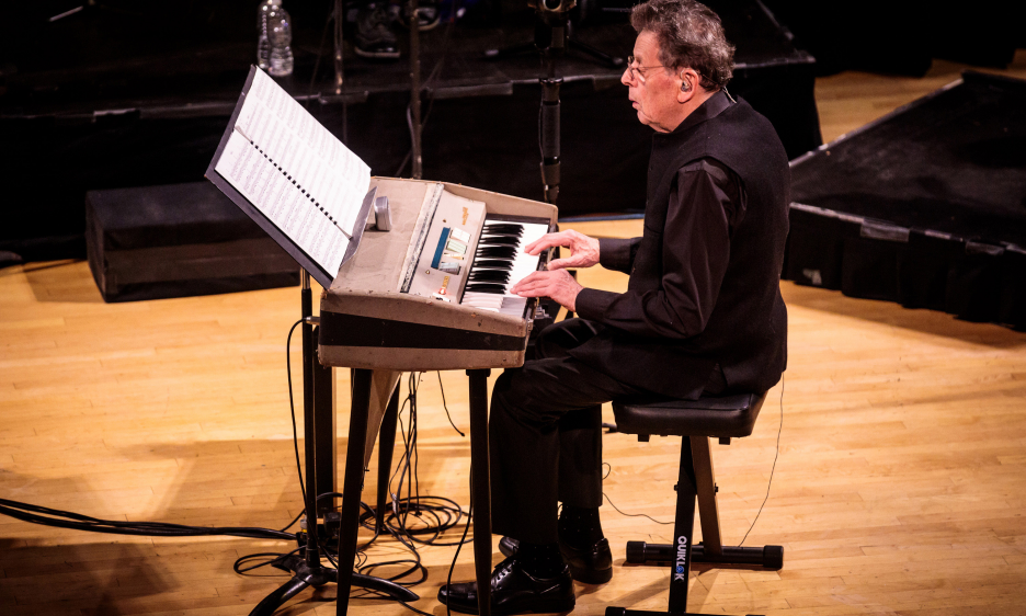 Philip Glass Ensemble Performs Music In Twelve Parts At Town Hall
