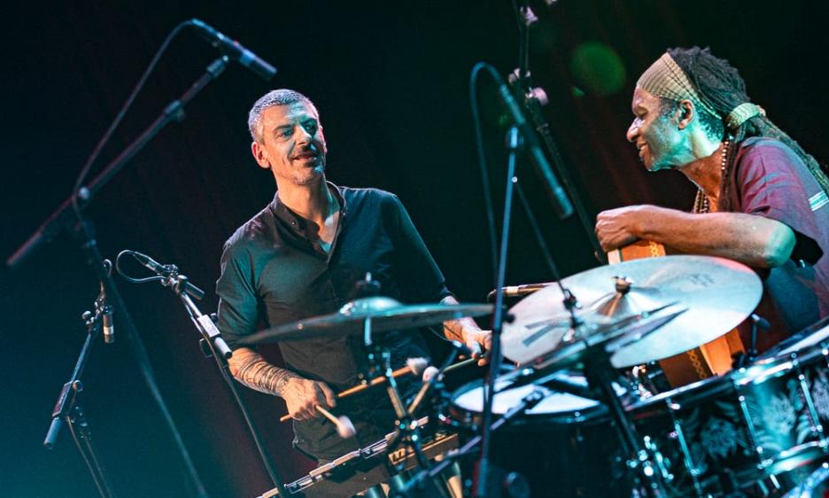Pasquale Mirra e Hamid Drake al Roma Jazz Festival