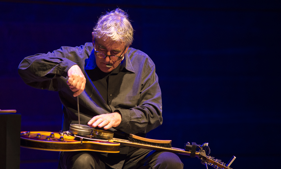 Fred Frith's solo performance at the Macedonian Philharmonic Orchestra's Concert Hall