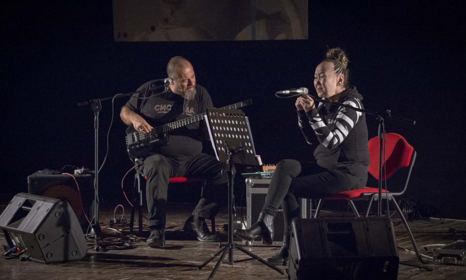 Sainkho Namtchylak e Mauro Tiberi ai Cantieri Culturali alla Zisa di Palermo