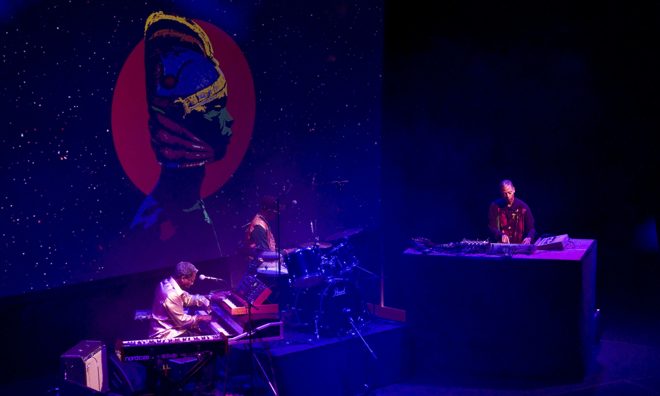 Tony Allen, Jeff Mills and Jean Philippe Dary at Cologne Philharmonie