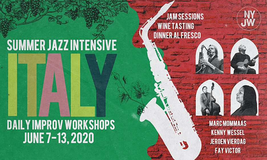 Jazz Improvisation Workshop In Italy 2020 - Register Now