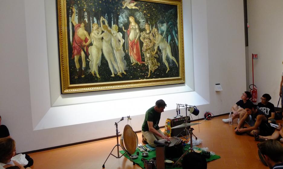 Zlatko Kaučič alla Galleria degli Uffizi di Firenze