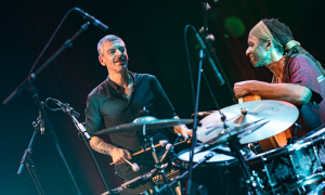 Interview with Pasquale Mirra e Hamid Drake al Roma Jazz Festival