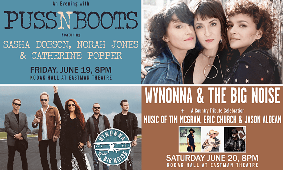 CGI Rochester International Jazz Festival Adds Puss N Boots Featuring Sasha Dobson, Norah Jones & Catherine Popper, And Wynonna Judd & The Big Noise Added To Headliner Lineup