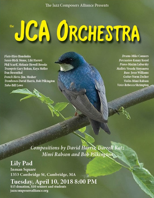 JCA Orchestra At The Lily Pad in Cambridge on April 10, 2018 at 8pm