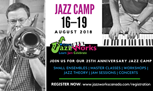 Ottawa JazzWorks Jazz Camp And Composers Symposium, August 13-19, 2018. Register now!