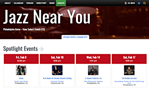 Jazz Near You Relaunches - Spectacular New Design with More Features