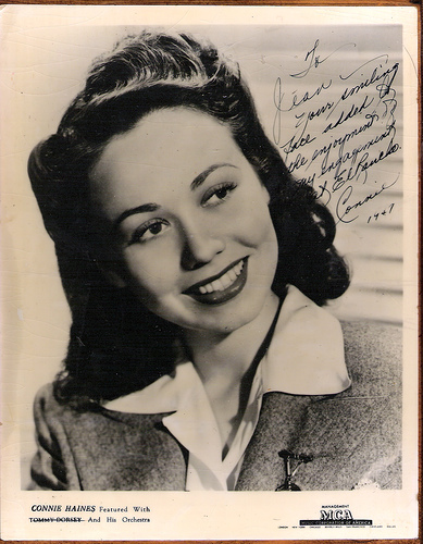 Connie Haines Dies  Big Band Singer Co-Starred with Sinatra