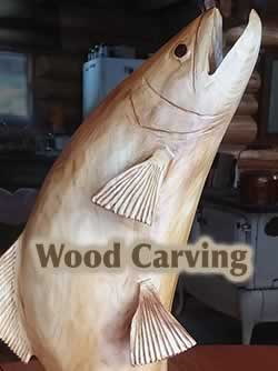 Jumping Trout Carving