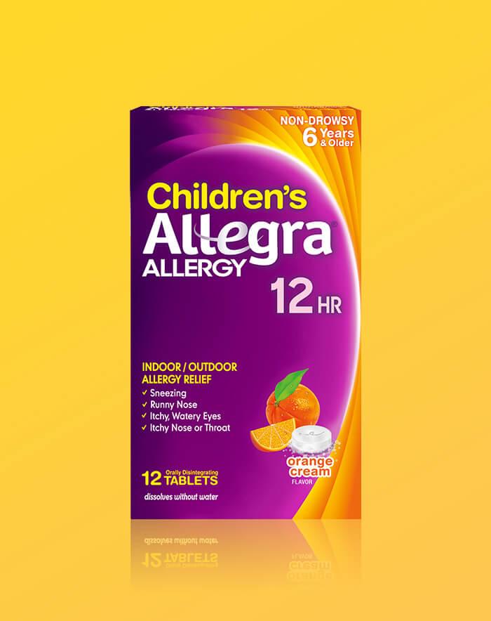 Children's Allegra Tabletas de disolución bucal