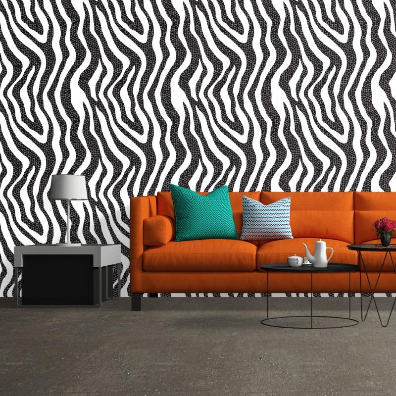 Abstrato Zebra - Papel de Parede - 0,58 x 1,50m