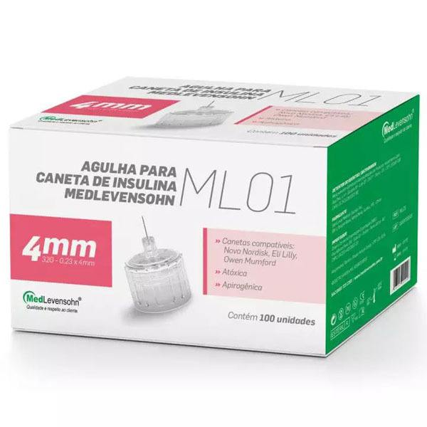 Agulha P/ Caneta De Insulina Medlevensohn Ml-01 32g 4mm