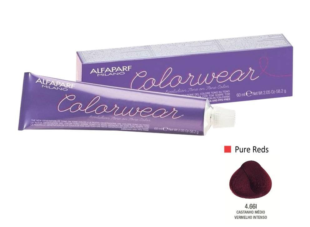 Alfaparf Coloração Colorwear 4.66 60ml New Bra