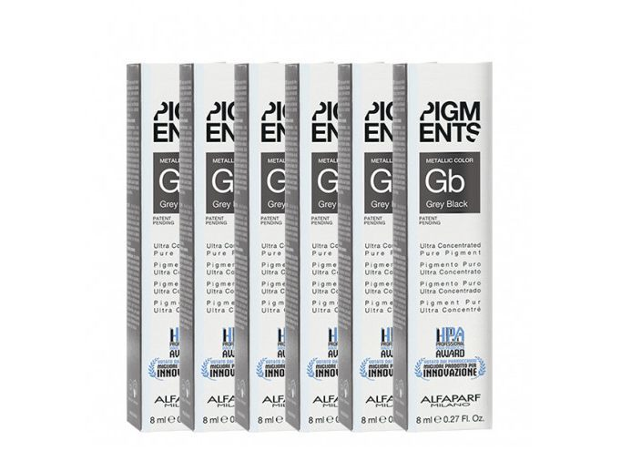 Alfaparf Coloraçao Pigments Grey Black 6X8ml