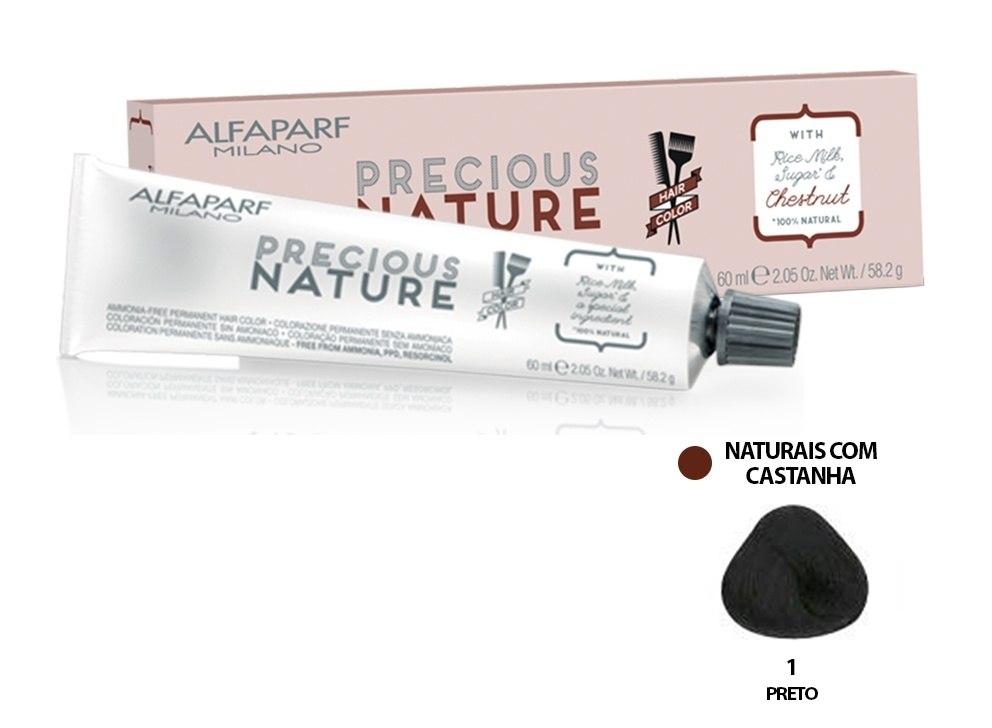 Alfaparf Coloração Precious Nature Hair Color 1 60 ml