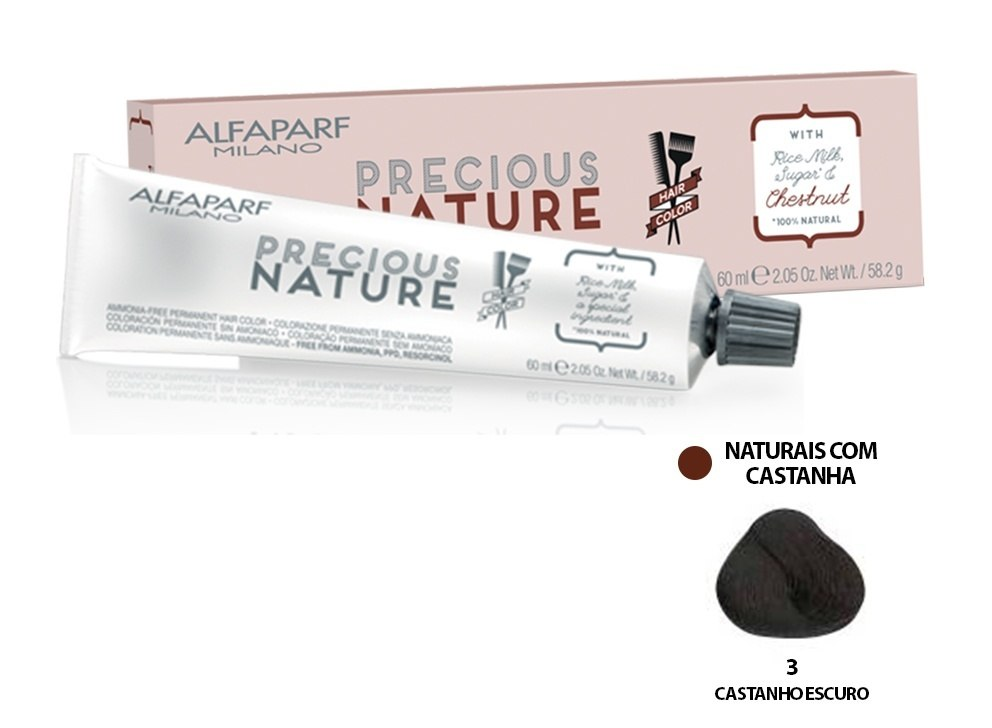 Alfaparf Coloração Precious Nature Hair Color 3 60 ml