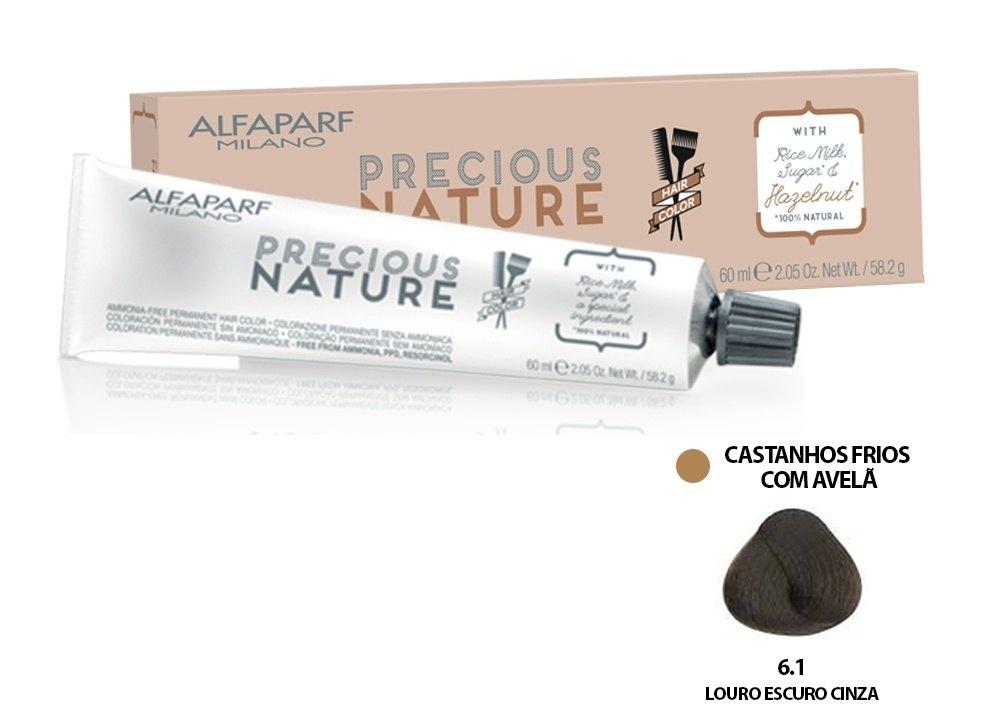 Alfaparf Coloração Precious Nature Hair Color 6.1 60 ml