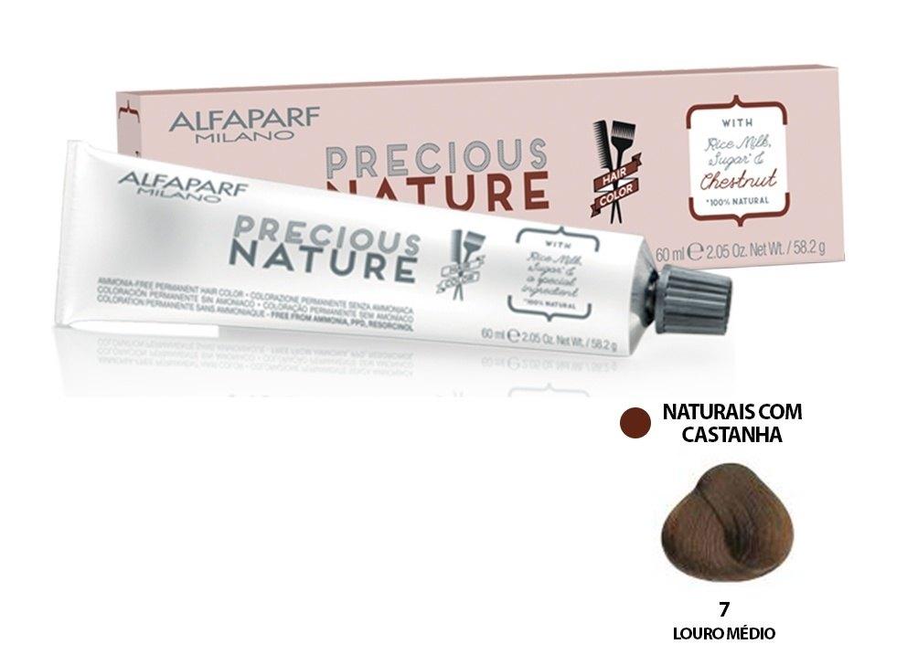 Alfaparf Coloração Precious Nature Hair Color 7 60 ml