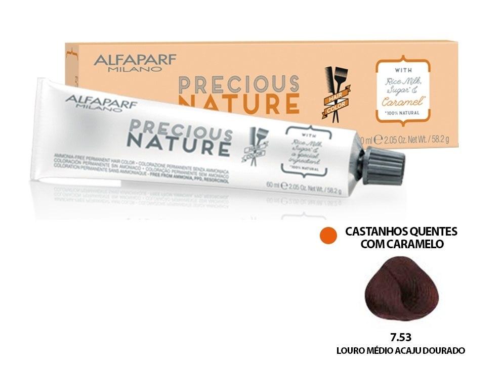 Alfaparf Coloração Precious Nature Hair Color 7.53 60 ml