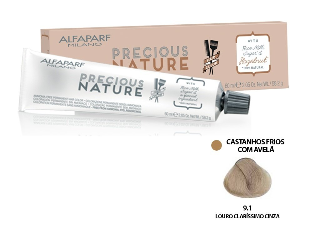 Alfaparf Coloração Precious Nature Hair Color 9.1 60 ml