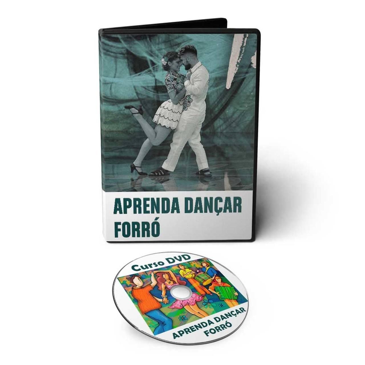 Curso aprenda a Dançar Forró Universitário em DVD Videoaula