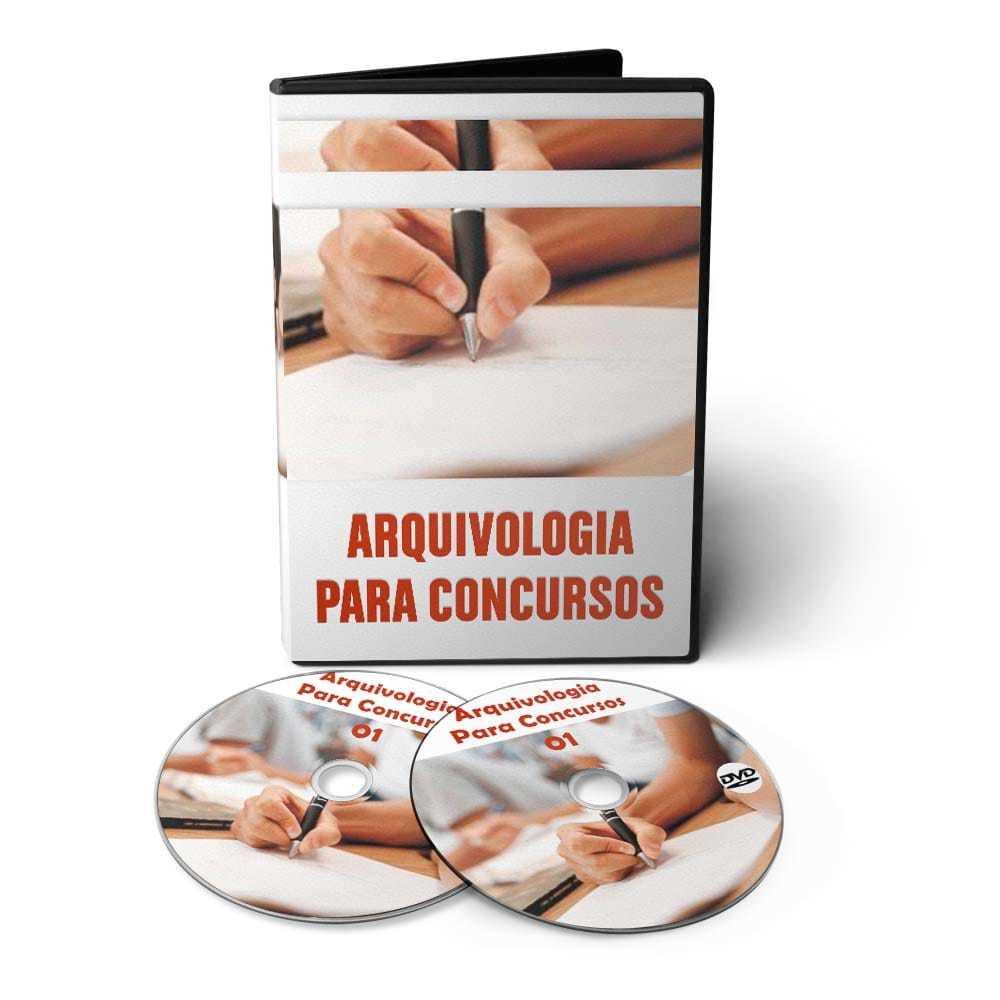 Curso de Arquivologia para Concursos em 02 DVDs Videoaula