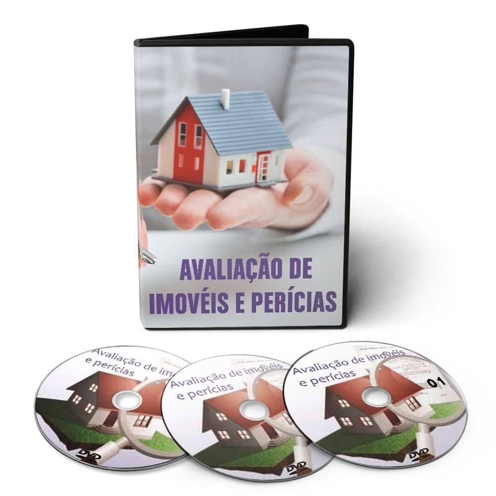 Curso de Avaliação de Imóveis e Perícias em 03 DVDs Videoaula