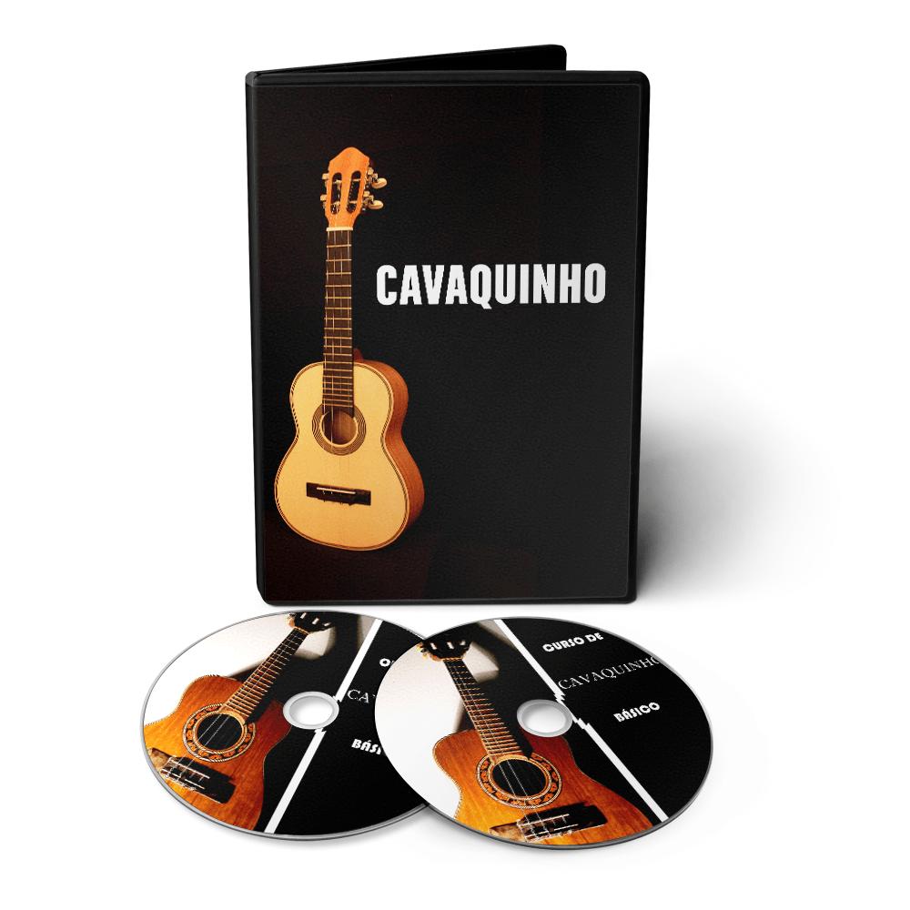 Curso de Cavaquinho do Básico ao Avançado em 03 DVDs Videoaula