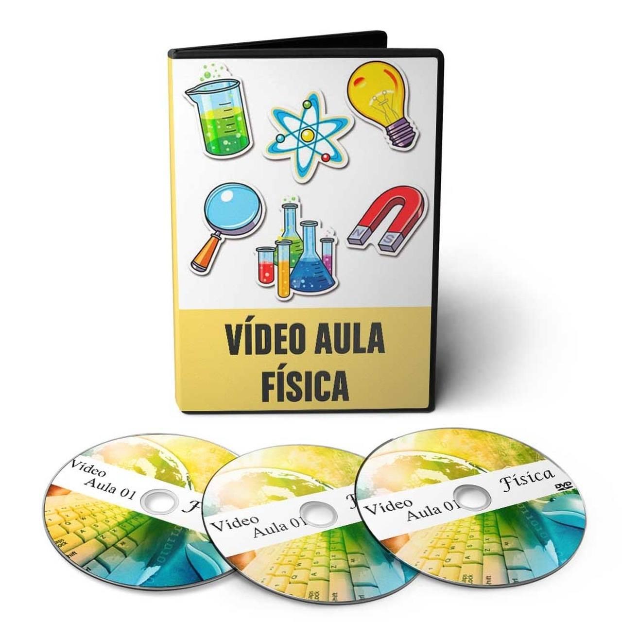 Curso de Física para Vestibular em 05 DVDs Videoaula + 02 CDs