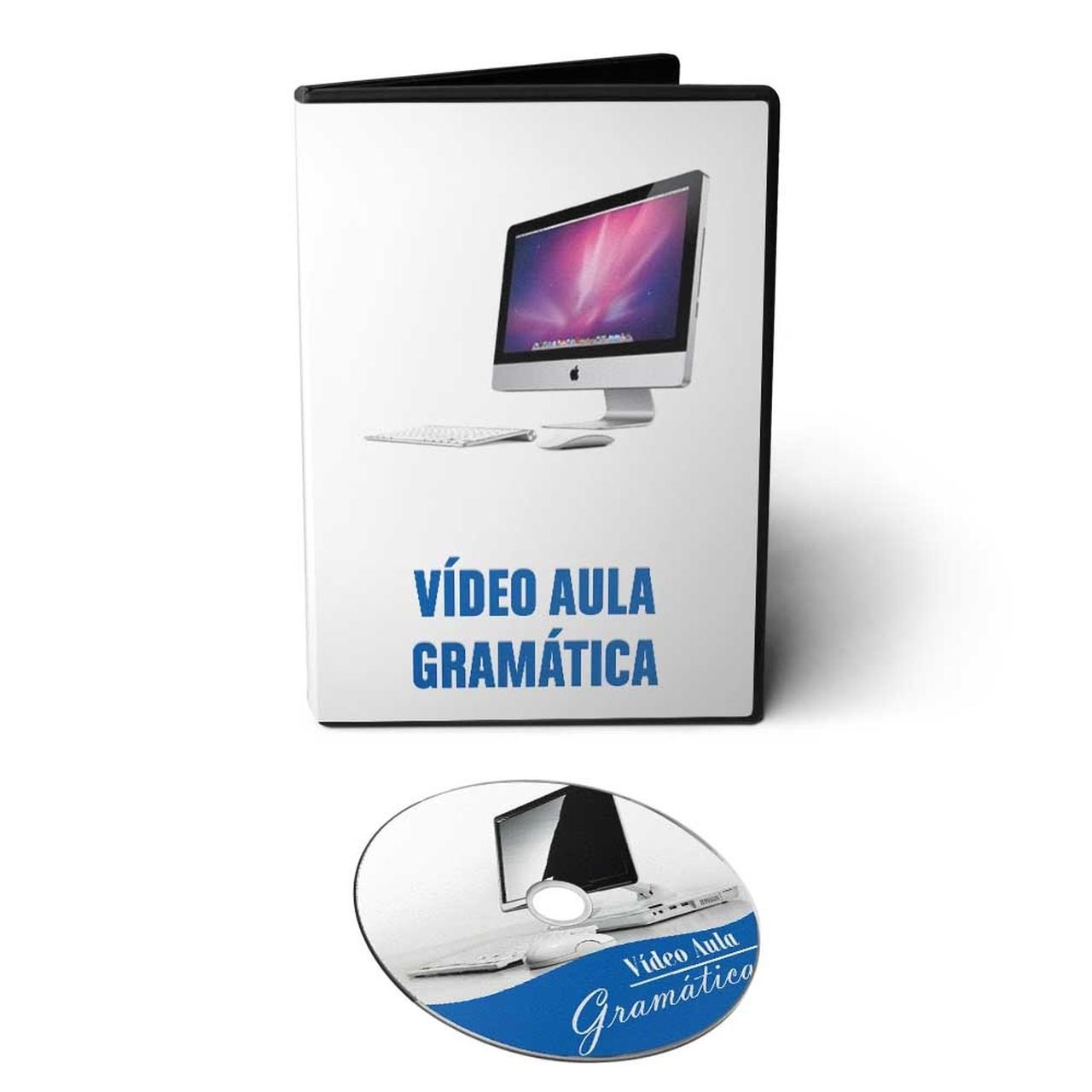 Curso de Gramática em DVD Videoaula + CD com 18h de Áudio Curso