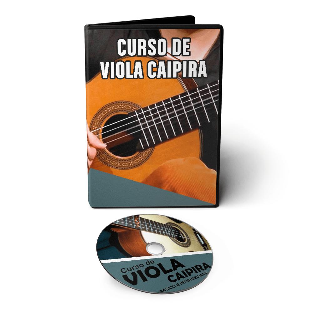 Curso de Viola Caipira do Básico ao Avançado em 02 DVDs Videoaula