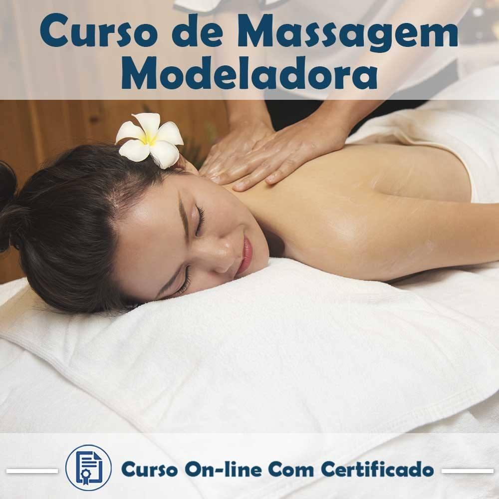 Curso online de Massagem Modeladora em videoaula com Certificado