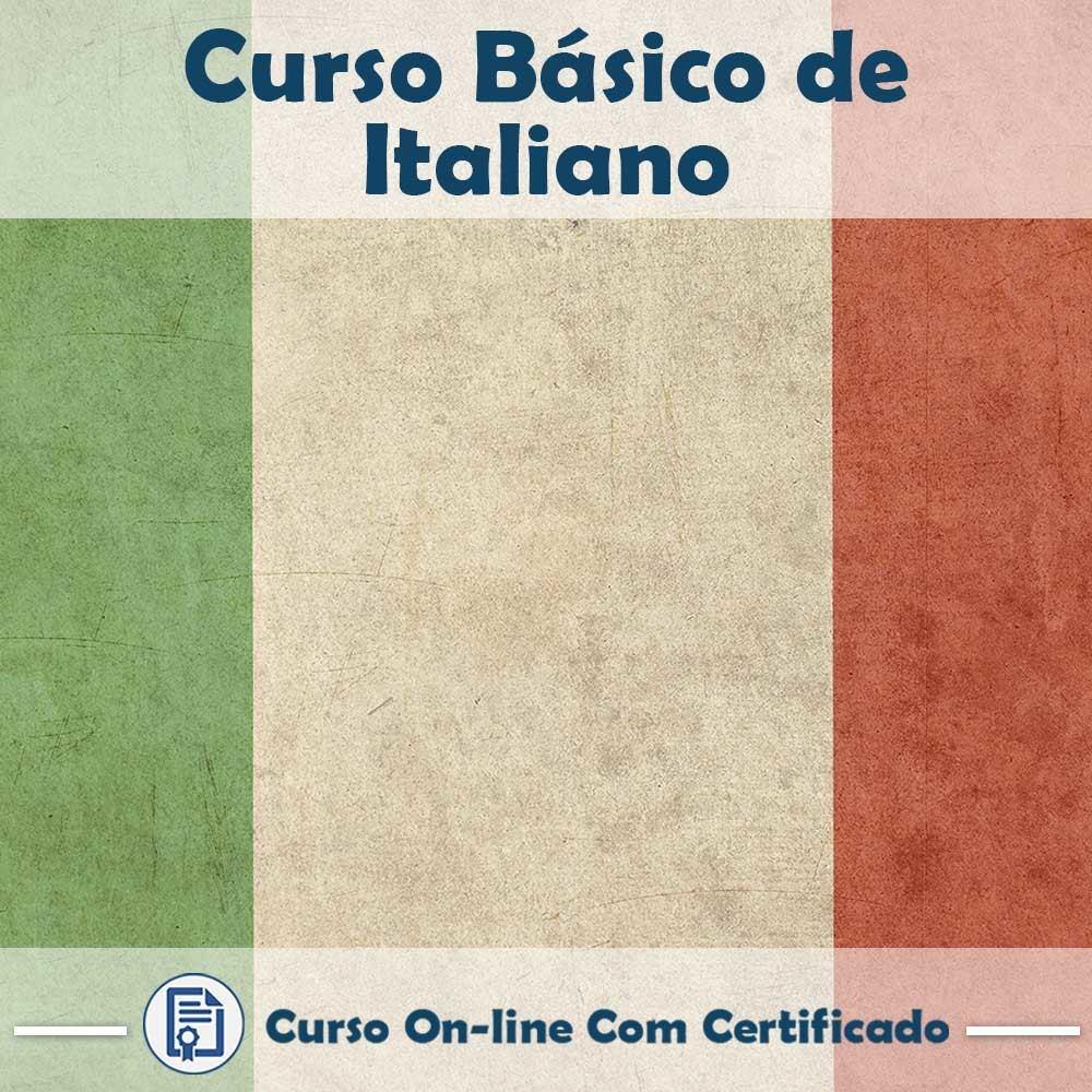 Curso online em videoaula Básico de Italiano com Certificado