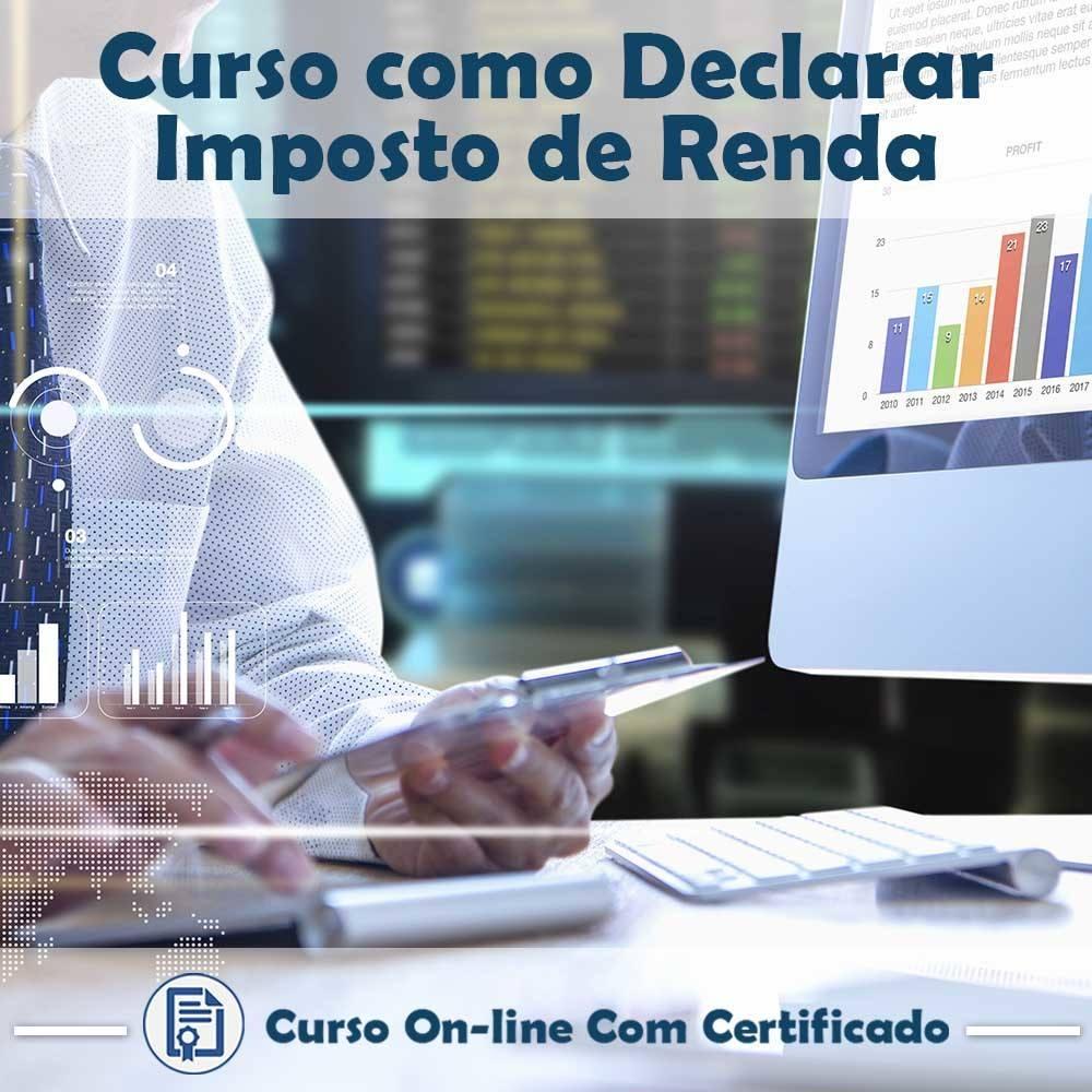 Curso online em videoaula de Como Declarar Imposto de Renda com Certificado