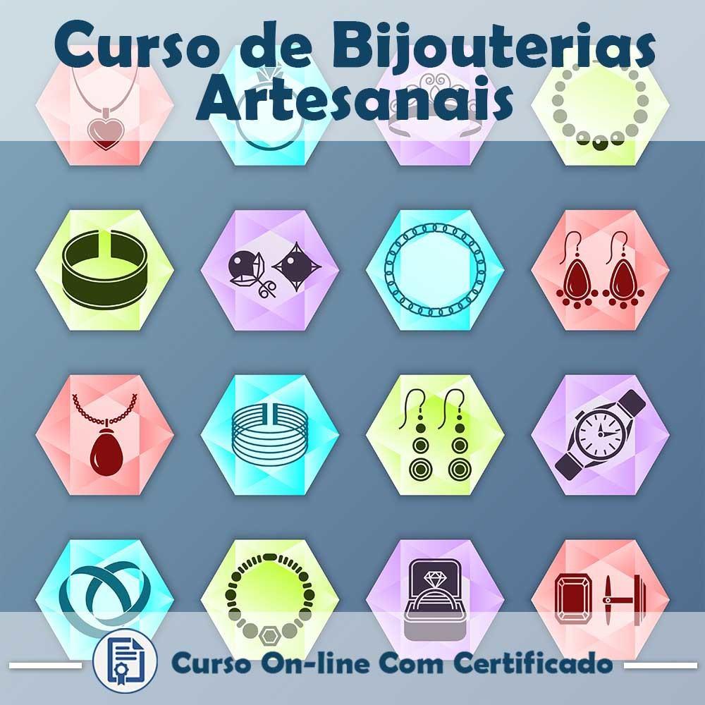 Curso online em videoaula de como fazer Bijouterias Artesanais com Certificado