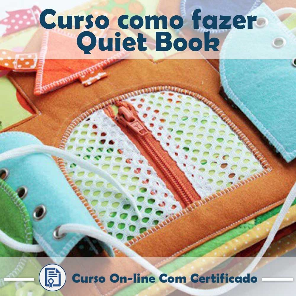 Curso online em videoaula de como fazer Quiet Book com Certificado