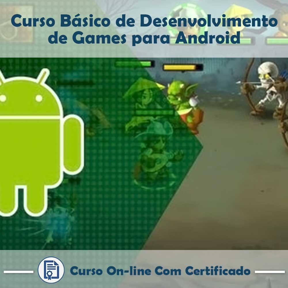 Curso online em videoaula Desenvolvimento de Games para Android - Básico com Certificado
