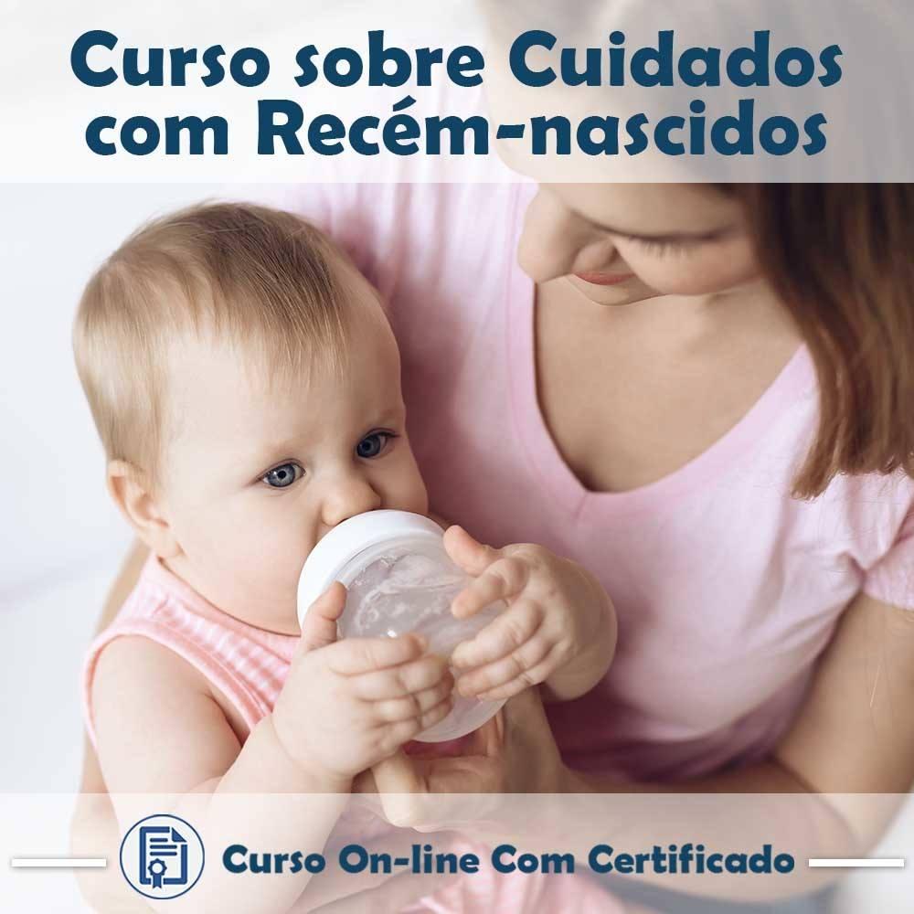 Curso online em videoaula sobre Cuidados com Recém-Nascidos com Certificado