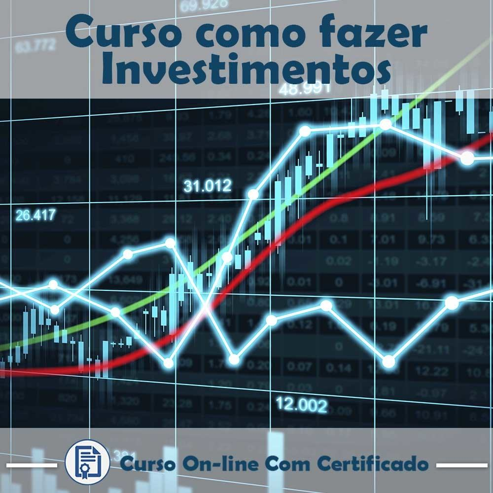 Curso online em videoaula sobre Investimentos com Certificado