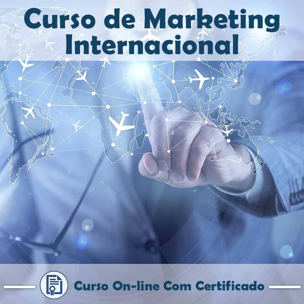Curso online em videoaula sobre Marketing Internacional com Certificado