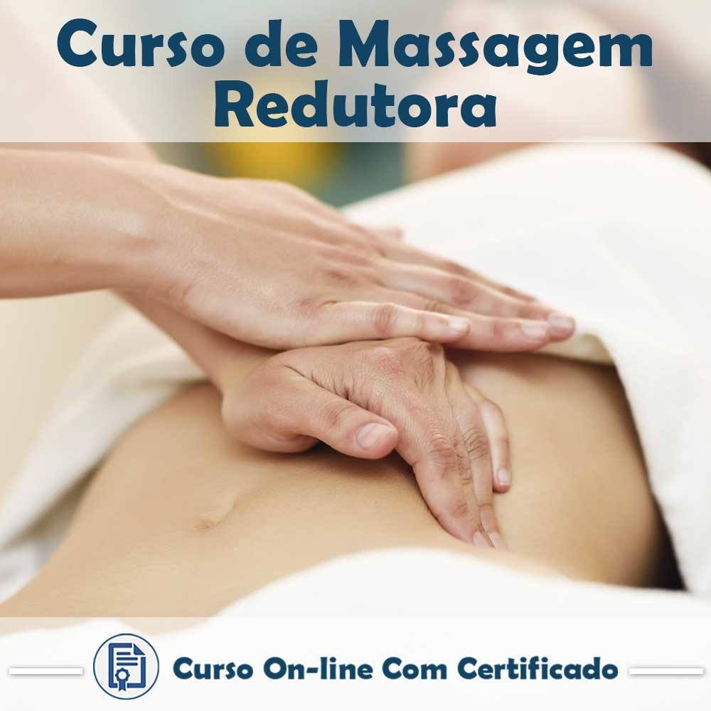 Curso online em videoaula sobre Massagem Redutora com Certificado