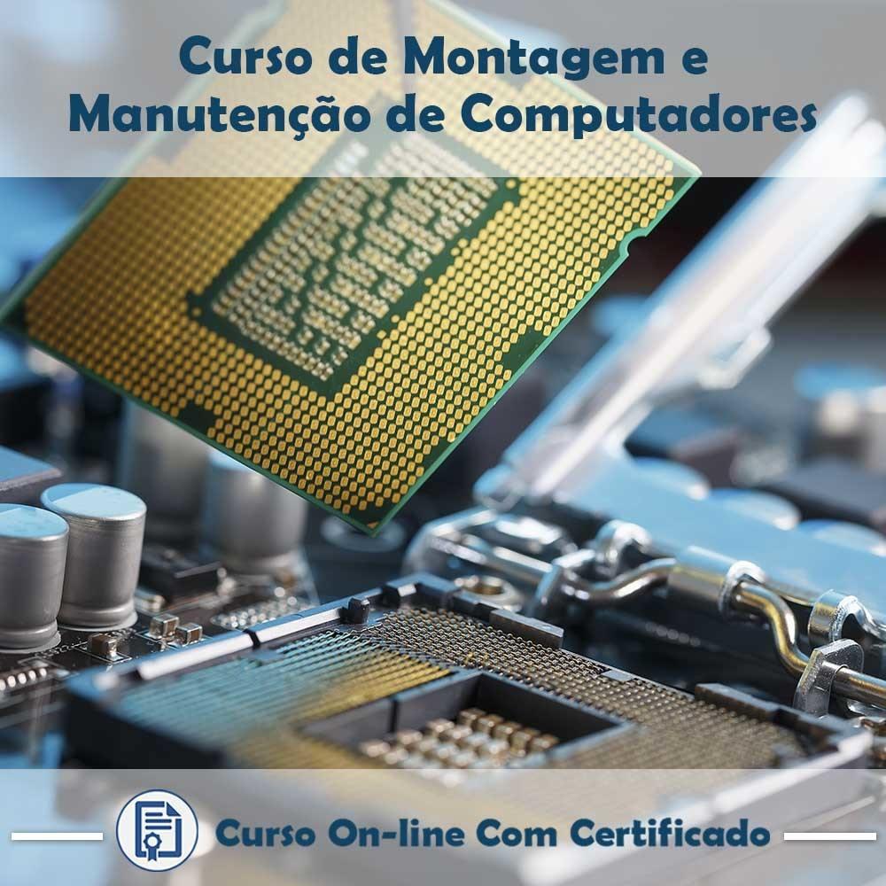 Curso online em videoaula sobre Montagem e Manutenção de Computadores com Certificado